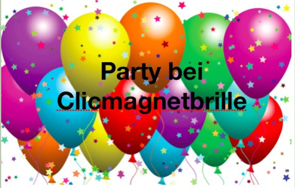 Party bei clicmagnetbrille